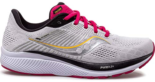 Saucony Girls's Data 14, Alloy/Cherry, 7.5 Wide thumbnail