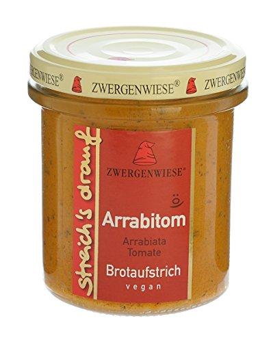 Zwergenwiese Bio Aufstrich streichs drauf Arrabitom (Arrabiata-Tomate) laktosefrei, 160 g