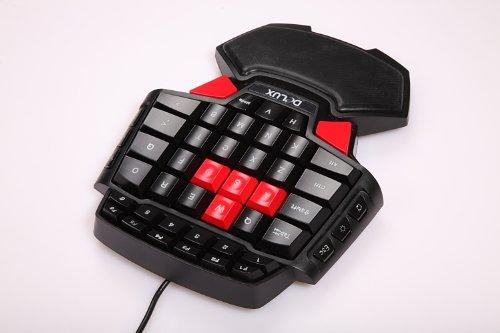 Tragbare Mini-Gaming-Tastatur, ergonomischer Spiele-Controller für LOL/Wow/Dota, 41 Tasten, kabelgebunden, Anti-Ermüdungserscheinung, Handgelenk-Pad, USB verkabelt