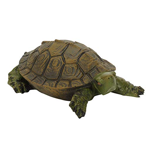 Schildkröte schwimmend Miniteich Gartenfigur Teichfigur