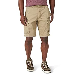 Wrangler Men's Relaxed Fit at The Knee Flex Cargo Shorts