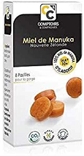 COMPTOIRS ET COMPAGNIES   PASTILLES 100% MIEL DE MANUKA ACTIF   IAA10+ (MGO263+)   8 PASTILLES