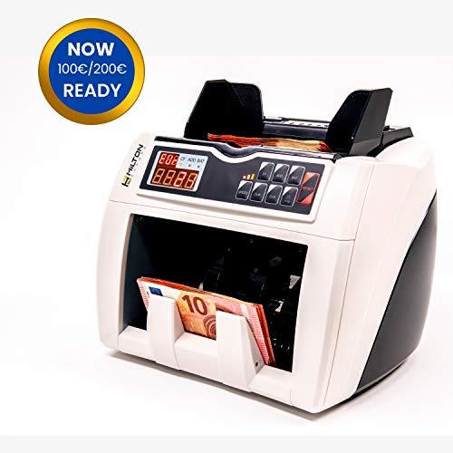 HILTON EUROPE HE-4000 Contador de Billetes con conteo automático de número de billetes con detección de billetes falsos 3 velocidades de conteo actualizado a los...