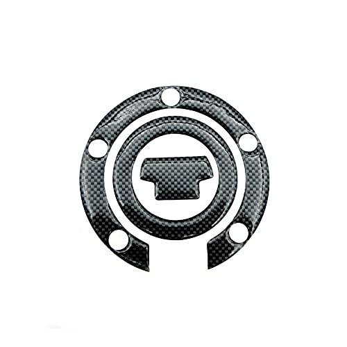 Protector DE Tanque Moto para Yam-AH-A R1 R6 FZ6R FZ1S Cubierta Tapa Gas Fibra Carbono para Motocicleta Almohadilla Protectora Decorativa para Tanque Pegatinas calcomanía (Color : C)