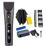 D&XQX Pelo eléctrica Cortador de Pelo Clippers del Equipo con 8 Guía de peines y LED de visualización Profesional inalámbrico Recargable Pelo de la Barba Trimmer Kit,A6
