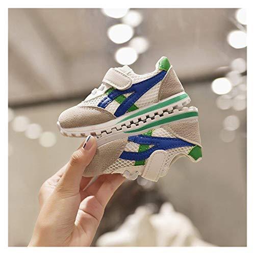 Youpin Zapatos de bebé para niños, zapatos deportivos para niños, niñas y bebés, zapatillas de deporte a la moda, casual, zapatos suaves (color: verde neto, tamaño del zapato: 16 (plantilla de 12 cm)