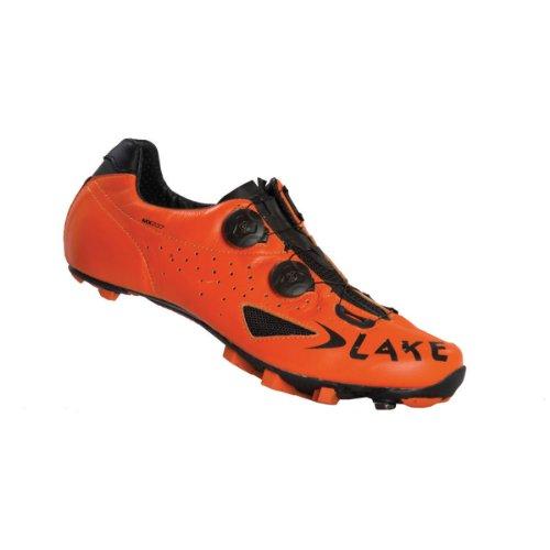 Lake Mx237-x Fahrradschuh Unisex Erwachsene, Unisex, L3009857, Orange/Schwarz, 40