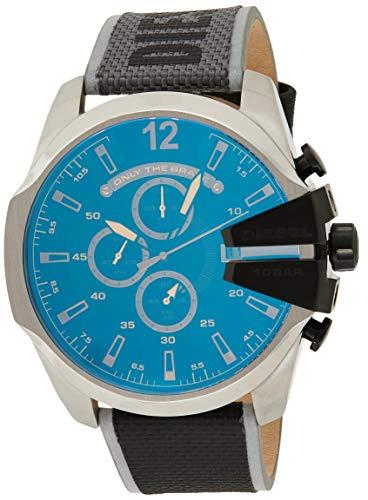 Diesel Herren Chronograph Quarz Uhr mit Nylon Armband DZ4523