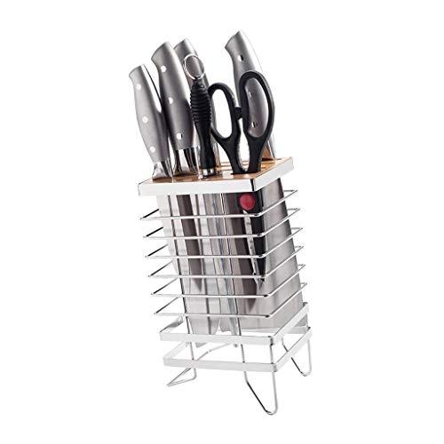 Zfggd Messerhalter Edelstahl Professional Placement-Tool Schmiedeeisen Messer Zahnstange for Küche Muti-Funktion Werkzeugaufbewahrung Abfluss Gestell
