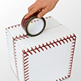 2 of pack - Baseball Stitches Design Cellophane Adhesive Tape Funny DIY Home Decor