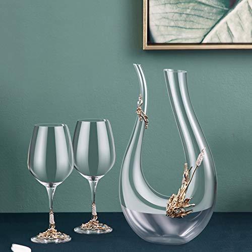 Harp Wine Decanter, vidrio de cristal de alta gama de lujo para uso en el hogar, vidrio de vino y juego de jarras, mano de obra exquisita
