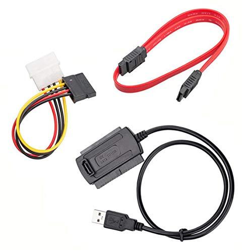 Cable adaptador de tres vías Usb a Ide/Sata Easy Drive Line Cable adaptador de unidad óptica de disco duro de 2,5 pulgadas / 3,5 pulgadas
