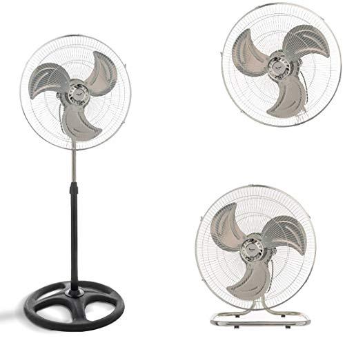 Mediawave Store - Ventilador de pie 3 en 1 Jordan V-45A de mesa de pared 60 W 3 velocidades de aluminio, ventilador para casa, oficina, cromado, ventilador de suelo, calo, refresca el ambiente