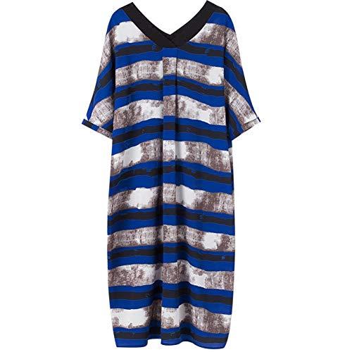 BINGQZ Cocktail Jurken Zomer damesrok in de lange mode losse zomerjurk gestreepte jurk vrouwelijke zomer