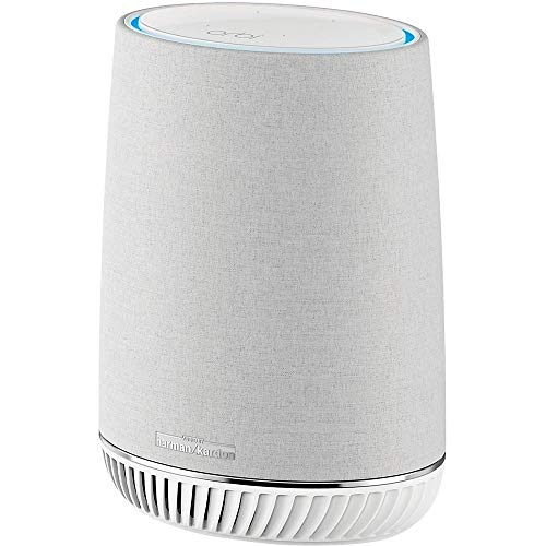 NETGEAR Orbi Voice Whole Home Mesh WiFi Satellite Extender - with Amazon Alexa and Harman Kardon Speaker Built in, AC2200 (RBS40V), Works with Orbi WiFi Systems