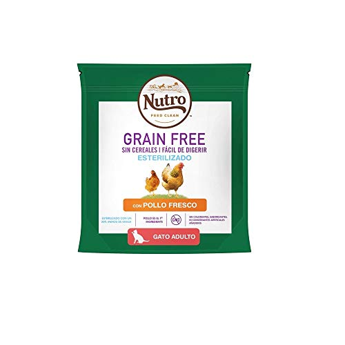 Pienso para Gatos Esterilizados Nutro Grain Free Pollo Fresco 400 gr