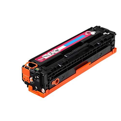Cartucho de tóner compatible para impresora HP 131a Cf210a Color Laserjet Pro Mfp M251n M276n M276nw Cm1312mfp Cm1312nfi Cp12155, efecto de impresión transparente, magenta