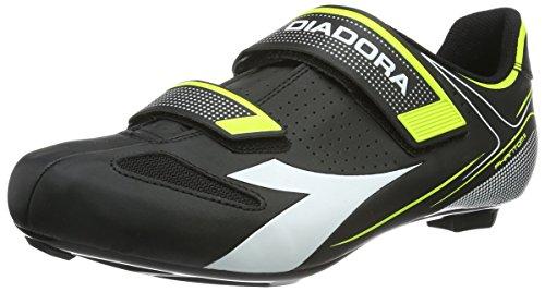 Diadora Unisex-Erwachsene PHANTOM II Radsportschuhe - Rennrad, Schwarz (black/white/yellow...