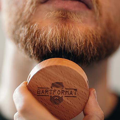 Bartpflege Set BARTFORMAT Runde Bartbürste, Bart Balsam, Bartkamm Abbildung 2