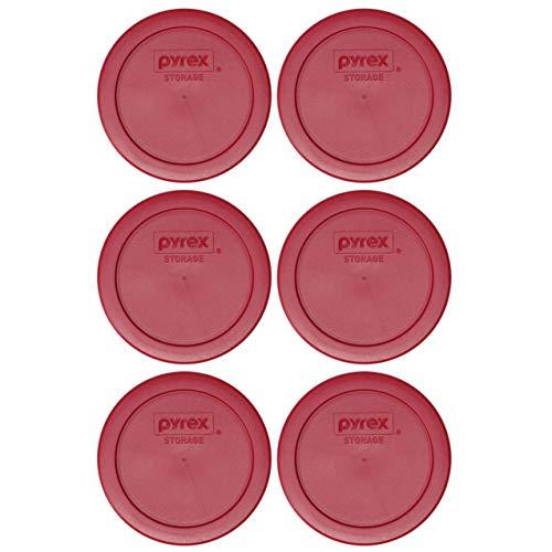 Pyrex 7200-PC Sangria Plastic Food Storage Replacement Lids - 6 Pack