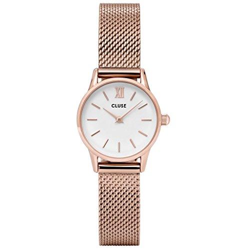 Cluse Unisex Erwachsene Digital Quarz Uhr mit Edelstahl Armband CL50006
