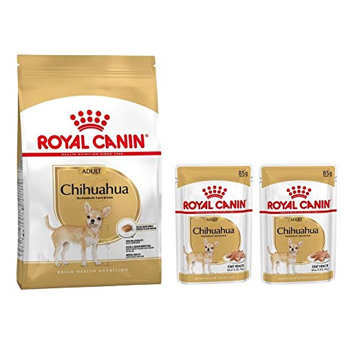 Chihuahua Adult 1.5kg Dry + Wet Chihuahua 2x85g Pouches