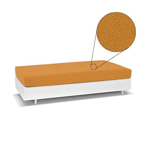 Biancaluna - Colcha Living Genius para sofá Cama Individual, Antimanchas, R454, Naranja
