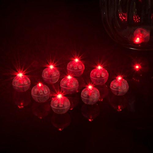 TXYFYP 10 Stück LED Ballon Licht, Mini Runde Ball Lichter, wasserdichte Halloween Lichter für Ballon Papier Laterne Geburtstagsfeier Hochzeitsdekoration