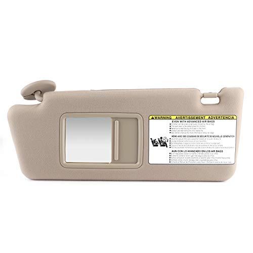 KIMISS Visera solar para coche, izquierda, lado del conductor, ABS, protector solar, protector de tablero, accesorio 74320‑04181 ‑ B1, repuesto para 2005 2006‑2012