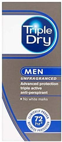 Antitranspirant test dry triple Antitranspirant Men
