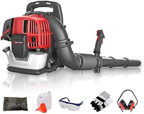 BU-KO Petrol Backpack Leaf Blower 65CC - Powerful 2 Stroke...