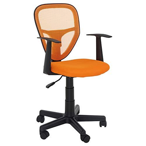 CARO-Möbel Schreibtischstuhl Studio Kinderdrehstuhl Bürostuhl Drehstuhl in orange mit Armlehnen, höhenverstellbar