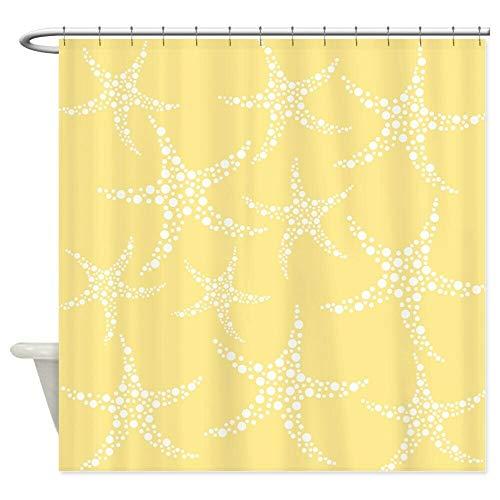 dsgrdhrty CafePress Dotty Starfish Yellow Wasserdichter Duschvorhang antibakteriell & waschbar