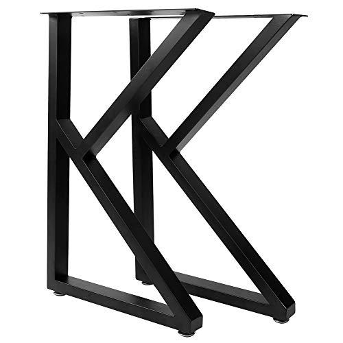 Greensen Juego de 2 Patas de Muebles, Patas De Mesa Rústicas En Forma de k, Patas de Escritorio de Metal Resistente, Patas de Mesa de Comedor, Industrial Moderno, para Mesa De Bricolaje 71x45cm
