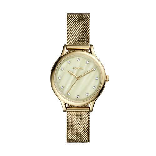 Fossil - Reloj de Cuarzo de Acero Inoxidable para Mujer BQ3391