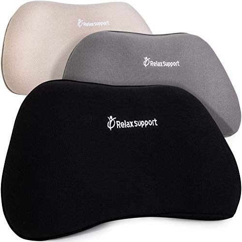 RELAX SUPPORT RS1 Back Support Pillow Lumbar Pillow Upper and Lower Back for Chair Back Pain Uses ArcContour Special Patented Technology Has Unique Lateral Convex Shape for a Pain Free Back
