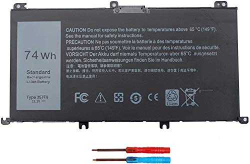 74WH 357F9 Laptop Battery for Dell Inspiron 15 7000 Gaming 15 7559 i7559 7557 i7557 5577 7567 5576 7566 i7559-5012GRY i5577-7342blk-pus INS15PD Series P65F P65F001 P57F 71jf4 071jf4 0GFJ6 0357F9