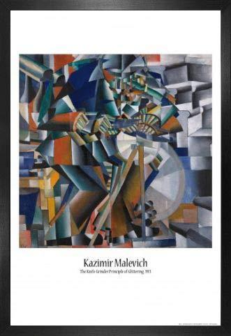 1art1 Kazimir Malévich Póster con Marco (Madera DM) - El Afilador de...