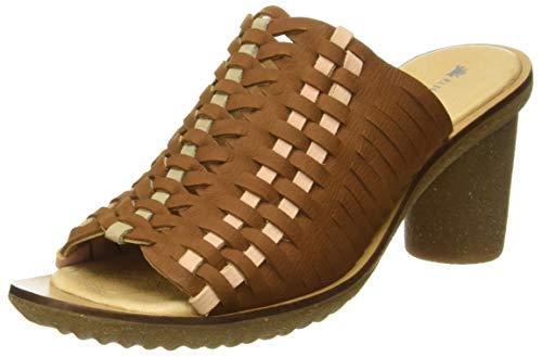 El Naturalista Trivia, Zapatos de tacón con Punta Abierta para Mujer, Marrón (Wood Wood), 38 EU