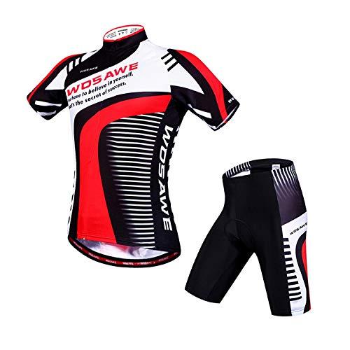 Compressieset voor heren, mountainbike, sneldrogende fietskleding, mountainbike-pak, korte mouwen.