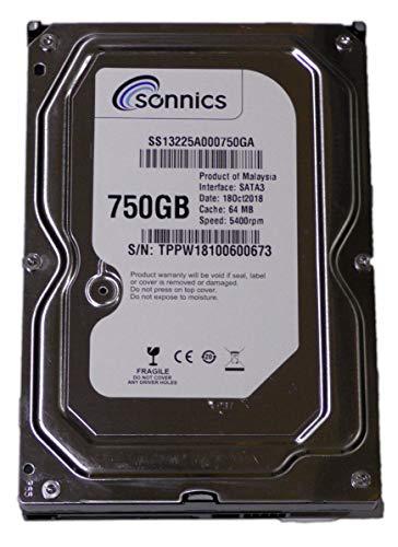 Sonnics harde schijf voor bewakingscamera, 750 GB, 8,9 cm (3,5 inch), SATA, CCTV-systeem, DVR