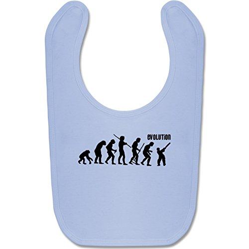 Shirtracer Evolution Baby - Cricket Evolution - Unisize - Babyblau - Geschenk - BZ12 - Baby Lätzchen Baumwolle