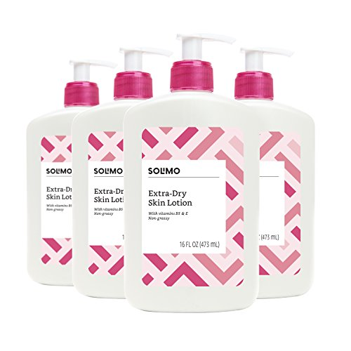Amazon Brand - Solimo Extra-Dry Skin Lotion with Vitamins B5 & E, 16 fl oz