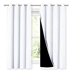 Two layers curtain for 100% blackout.