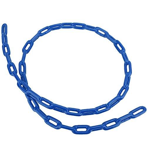 TAKE FANS 1.5m Niños al aire libre de plástico recubierto de hierro patio Swing Link Chain Toy Accesorio duradero (azul)