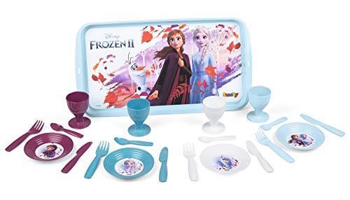 Frozen 2 Teeservice mit Tablett, Disney Frozen Servier Tablett mit Geschirr, für Kinder ab 3 Jahren
