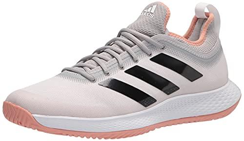 adidas Women's Defiant Generation Tennis Shoe, White/Black/Ambient Blush, 6
