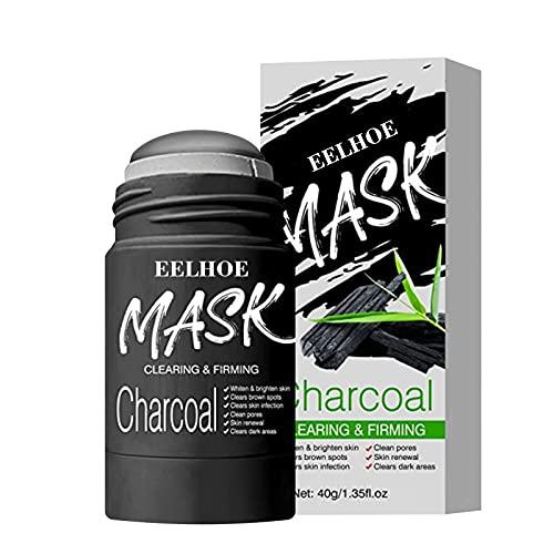 ZHWDZAMM Mascarilla en Barra de Arcilla purificadora de carbón VC/bambú, máscara limpiadora sólida, Barra de máscara sólida para Piel Clara, Barra de máscara para Todo Tipo de Piel