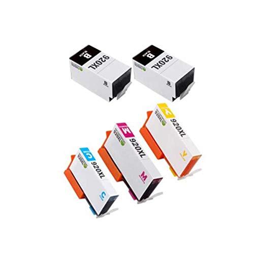 SXCD Cartuchos de tinta 920XL, cartuchos de repuesto compatibles para impresoras HP 6000, 6500, 6500A, 6000, 7000, 7500, de alta capacidad, color negro y combinación de colores