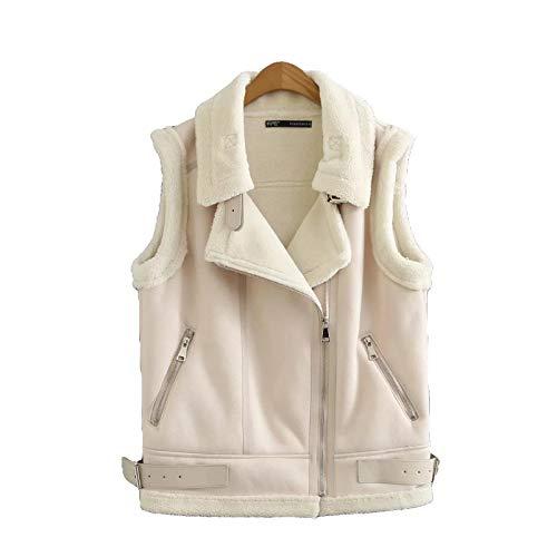 HANGMANGONGLU Dames Gilets Cardigan vest Revers pelvest voor de winter